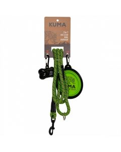Dog Leash Lime Blk 3 In 1